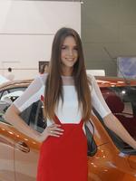 俄罗斯美女 2014巴黎车展 美女车模